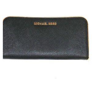 Michael KORS wallet blue black, Zipper closure